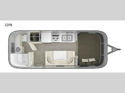 Floorplan - 2017 Airstream RV Sport 22FB