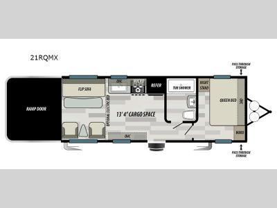 Floorplan - 2017 Forest River RV Shockwave T21FQMX