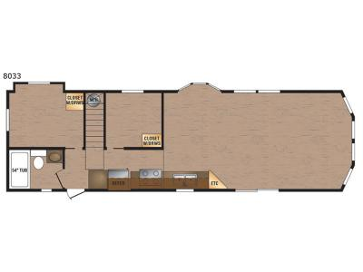 Floorplan - 2017 Kropf Industries Lakeside Series 8033