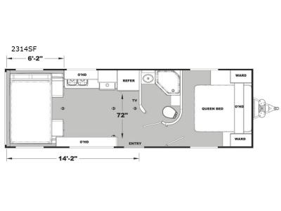 Floorplan - 2017 Eclipse Iconic Pro Lite 2314SF