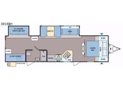 Floorplan - 2017 Dutchmen RV Coleman Light 3015BH