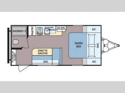 Floorplan - 2017 Dutchmen RV Coleman Lantern LT Series 16FB