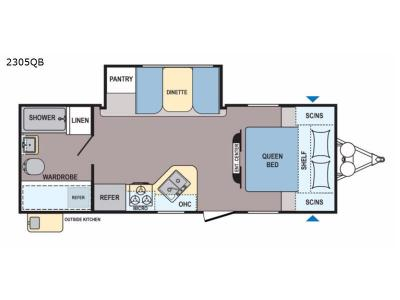 Floorplan - 2017 Dutchmen RV Coleman Light 2305QB
