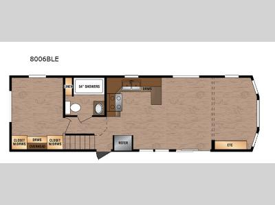 Floorplan - 2017 Kropf Industries Lakeside LE Series 8006B LE