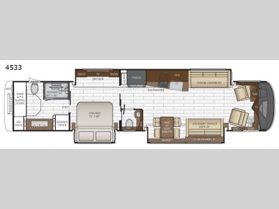 Floorplan - 2017 Newmar King Aire 4533