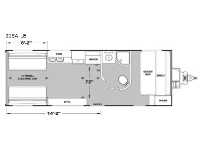 Floorplan - 2017 Eclipse Attitude Limited 21SA-LE