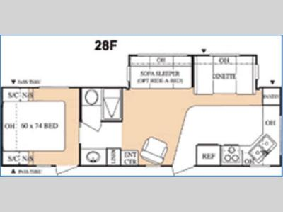 Floorplan - 2004 Keystone RV Hornet 28F