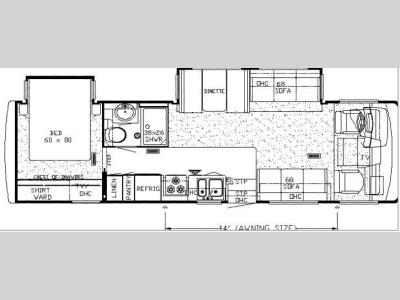 Floorplan - 2008 Newmar Bay Star BSCA 3202