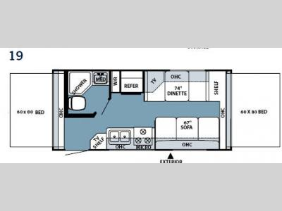 Floorplan - 2008 Forest River RV Rockwood Roo 19