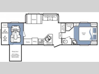 Floorplan - 2008 Keystone RV Cougar 310SRX