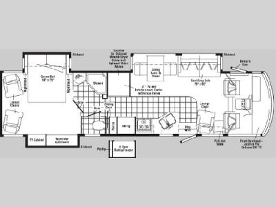 Floorplan - 2005 Winnebago Adventurer 37 B