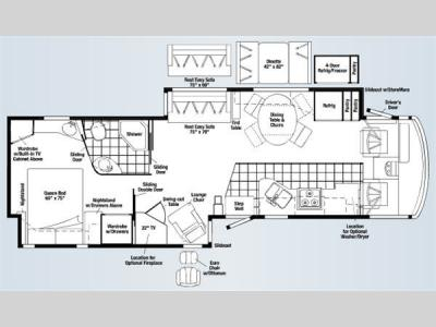 Floorplan - 2008 Winnebago Adventurer 38T
