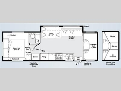Floorplan - 2008 Itasca Impulse 31C