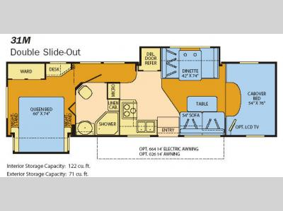 Floorplan - 2008 Fleetwood RV Jamboree 31M