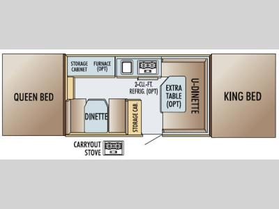 Floorplan - 2005 Jayco Jay Series 1207