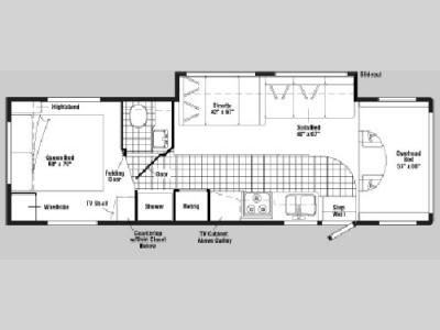 Floorplan - 2005 Winnebago Minnie 31 C
