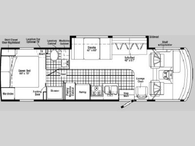 Floorplan - 2005 Winnebago Sightseer 30 B