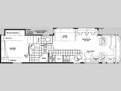 Floorplan - 2005 Winnebago Journey 36 G