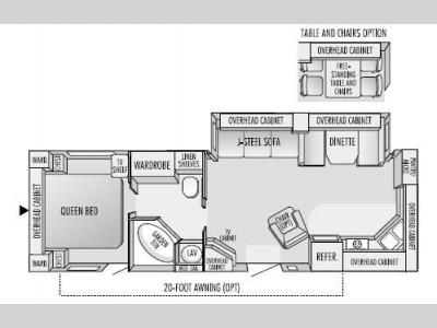 Floorplan - 2003 Jayco Eagle 312 FKS