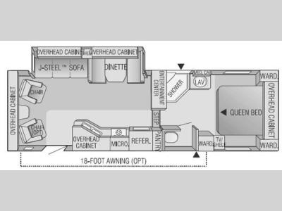 Floorplan - 2004 Jayco Eagle 281 RLS