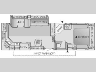 Floorplan - 2004 Jayco Eagle 283 RKS