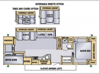 Floorplan - 2005 Jayco Eagle 298 BHS
