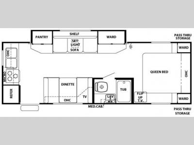 Floorplan - 2008 Forest River RV Cherokee Lite 26K