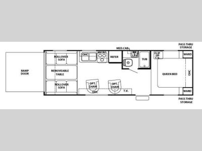 Floorplan - 2008 Forest River RV Cherokee Wolf Pack Sport 27DFWP