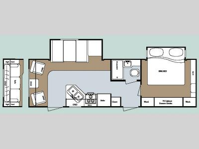 Floorplan - 2008 Gulf Stream RV Kingsport 286 RLS