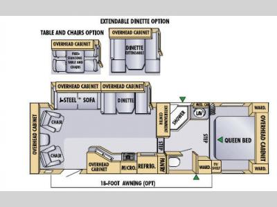 Floorplan - 2005 Jayco Eagle 281 RLS