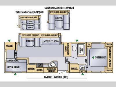 Floorplan - 2005 Jayco Eagle 305 BHS