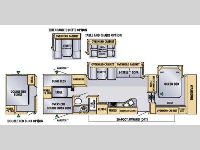 Floorplan - 2005 Jayco Eagle 325 BHS