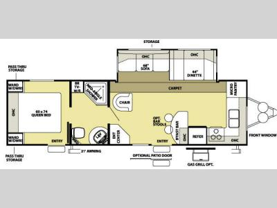 Floorplan - 2008 Forest River RV Wildwood LA 292FKSS