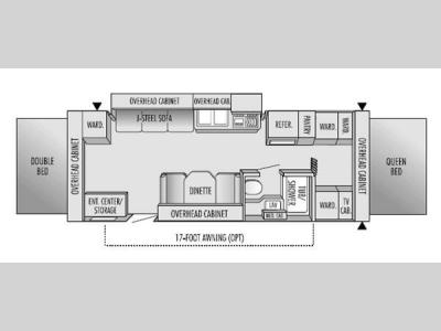 Floorplan - 2004 Jayco Jay Feather EXP 25 E
