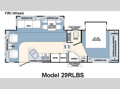 Floorplan - 2007 Forest River RV Wildcat 29RLBS