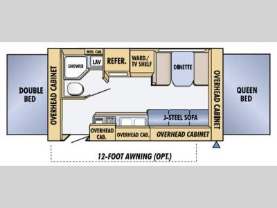 Floorplan - 2005 Jayco Jay Feather EXP 19 H