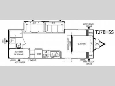 Floorplan - 2007 Forest River RV Salem T27BHSS