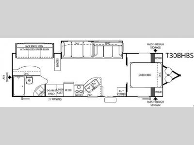 Floorplan - 2007 Forest River RV Salem T30BHBS