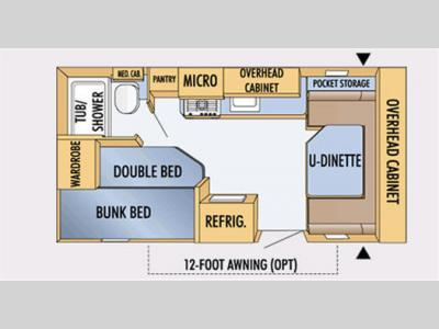 Floorplan - 2008 Jayco Jay Feather Sport 197