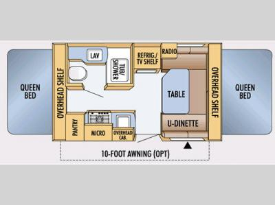 Floorplan - 2008 Jayco Jay Feather Ex-Port 17C