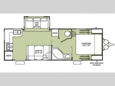 Floorplan - 2008 Fleetwood RV Wilderness 240RKS