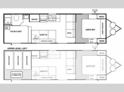 Floorplan - 2008 Adventure Manufacturing Timberlodge LE 27SKYLE