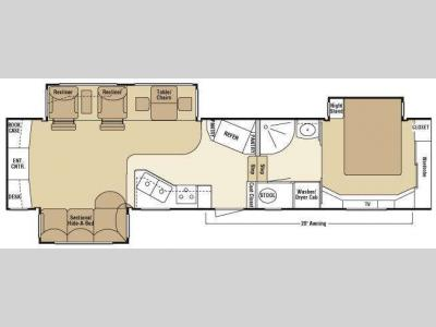 Floorplan - 2008 KZ Escalade 37 REB
