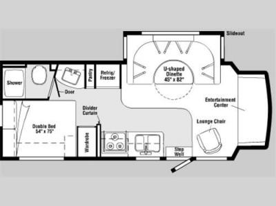 Floorplan - 2008 Winnebago Aspect 26A