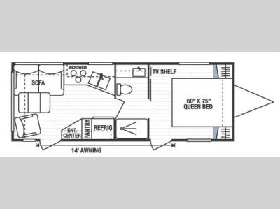 Used 2008 kz spree 240rl travel trailer at general rv for Table 6 in north canton ohio