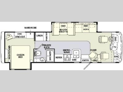 Floorplan - 2004 Holiday Rambler Admiral SE 32 PBD