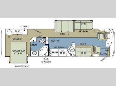 Floorplan - 2008 Holiday Rambler Vacationer 36 SBD