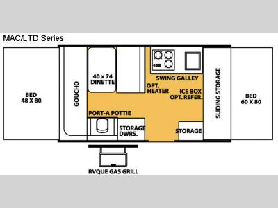 Floorplan - 2008 Forest River RV Flagstaff MAC/LTD Series 206ST