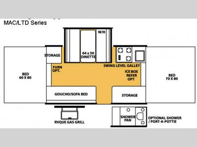 Floorplan - 2008 Forest River RV Flagstaff MAC/LTD Series 228D