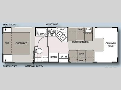 Floorplan - 2008 Four Winds RV Four Winds 5000 28A
